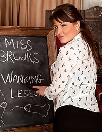 Elle Brook plays a mouthwatering lustful teacher
