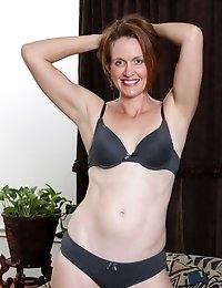Naughty mom can't wait to strip down and play